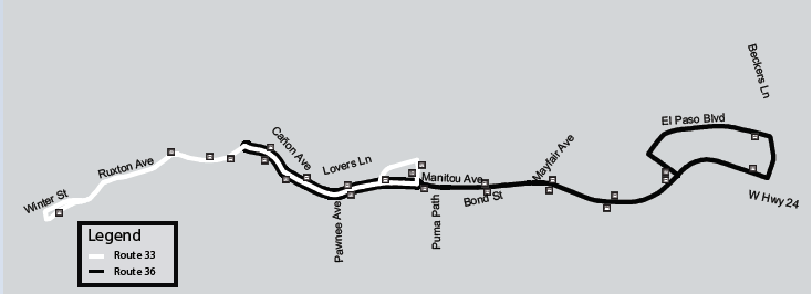 Route for 33 36 map