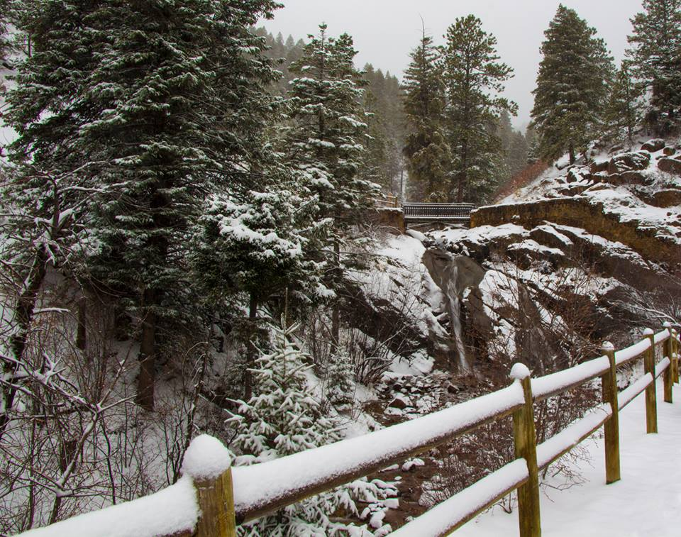 North Cheyenne Canyon in winter