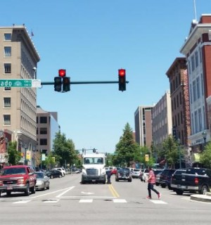 Street view of downtown Colorado Springs