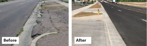 Pikes Peak ave before and after images