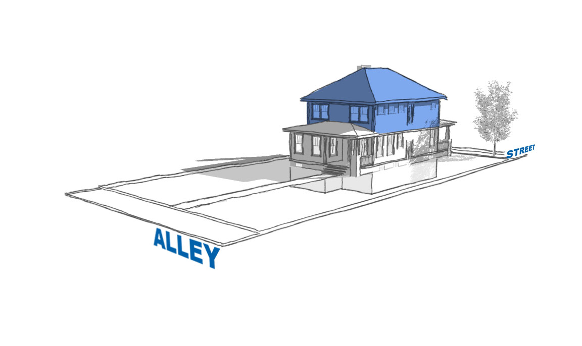 graphic showing convered attic