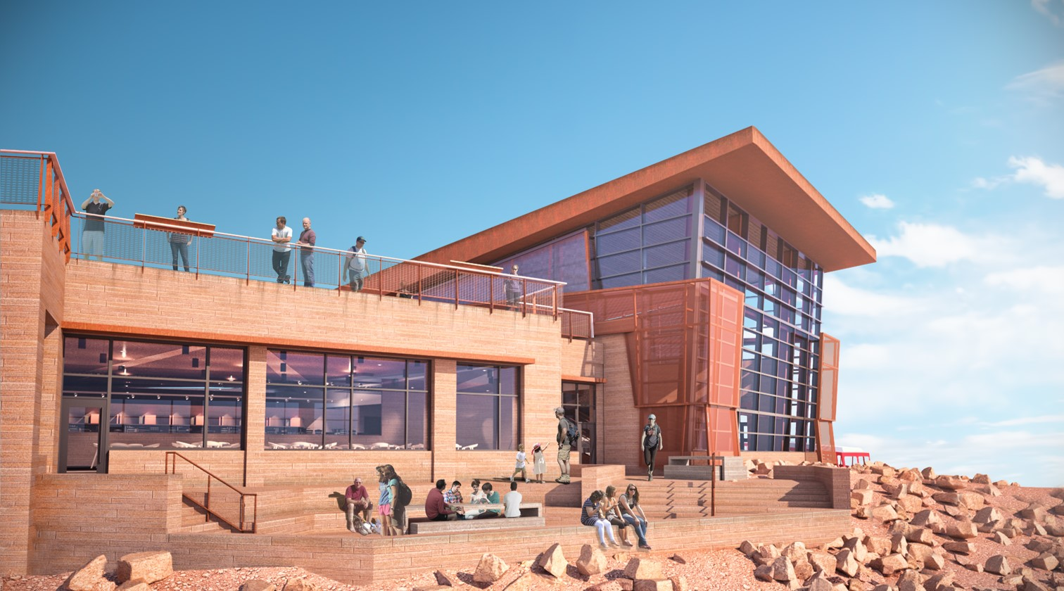 Pikes Peak Dining Terrace rendering