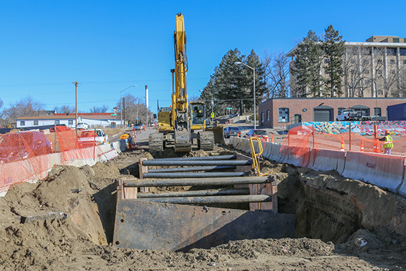 Storm Sewer Installation construction site