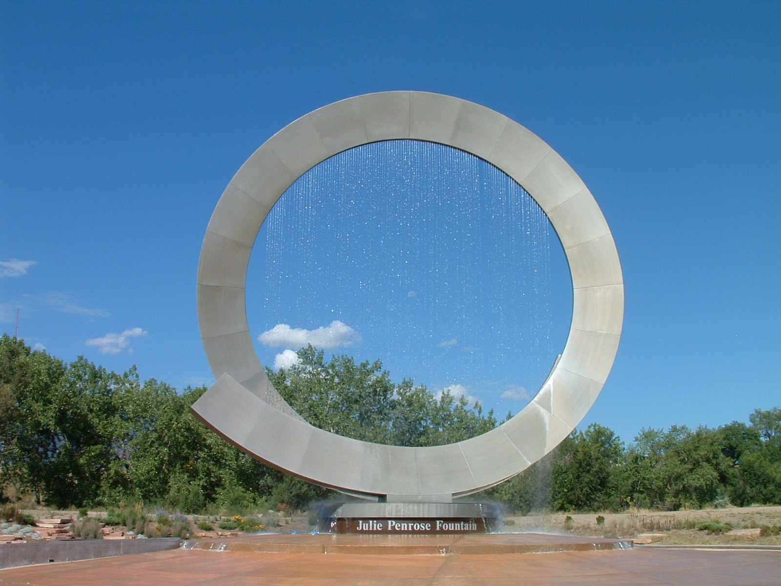 large circular fountain