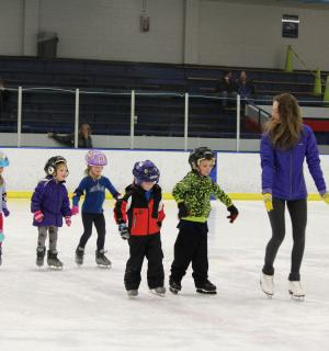 Kids learning how to skate