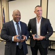 sgt morgan and officer falcon with their awards
