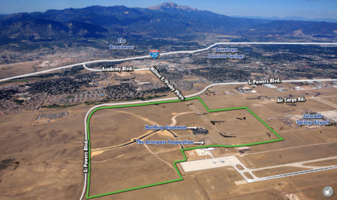 Arial view of peak innovation park