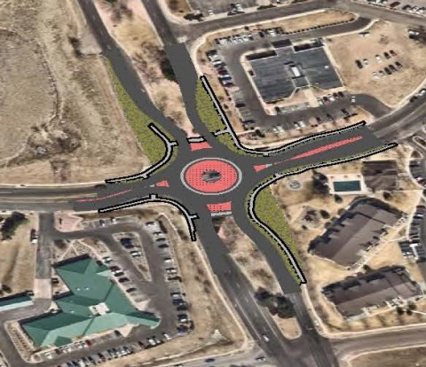 rendering of roundabout