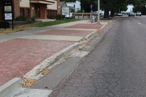 deteriorated curb and gutter