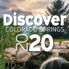 """photo of a park with the words """"Discover Colorado Springs 2020"""" over the image"""