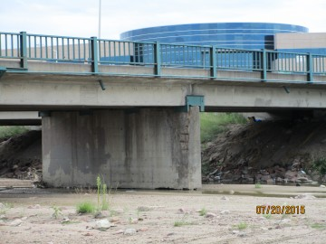 Side view of current bridge conditions