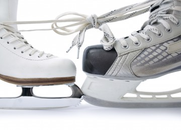 photo of ice skates